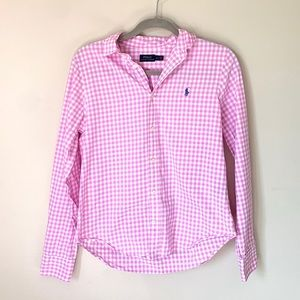 Polo Ralph Lauren pink and white button up